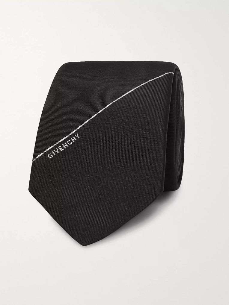 Givenchy 6.5cm Embroidered Silk-Twill Tie