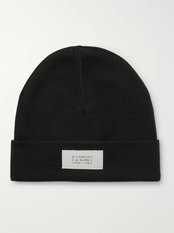 Givenchy Logo-Appliquéd Wool-Blend Beanie