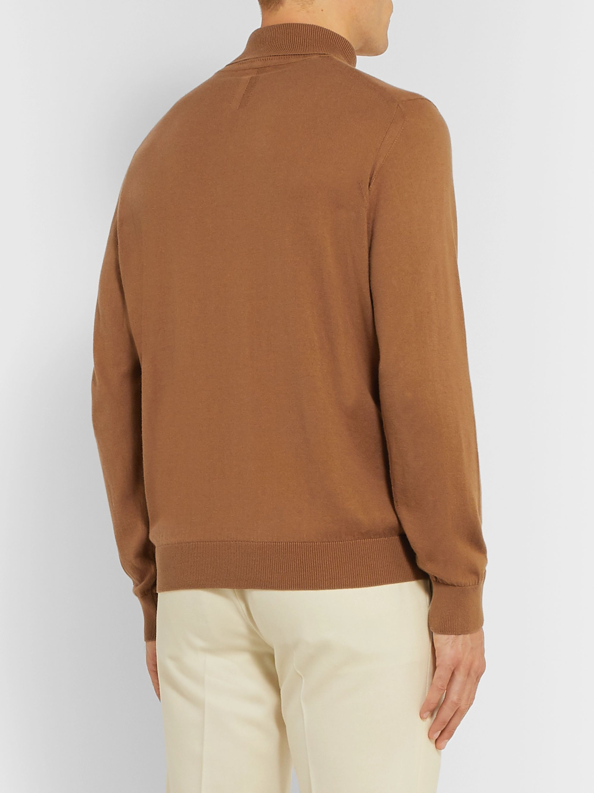 Caruso Cotton and Cashmere-Blend Rollneck Sweater