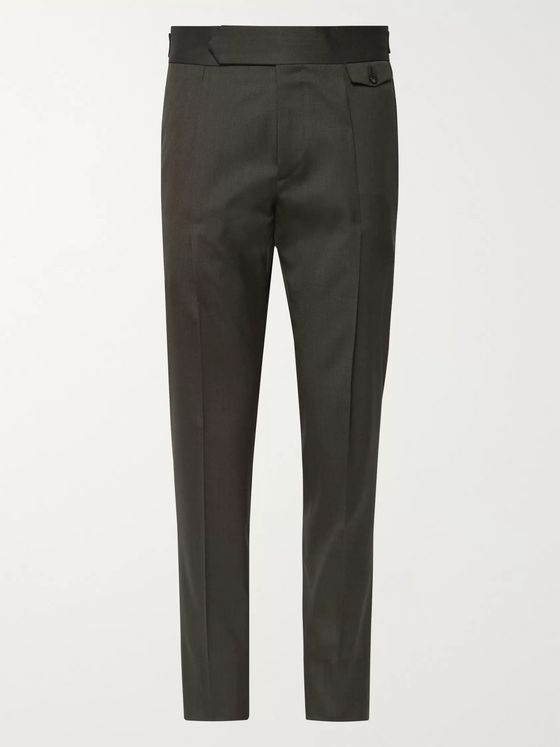 Caruso Slim-Fit Tapered Pleated Wool-Blend Twill Trousers