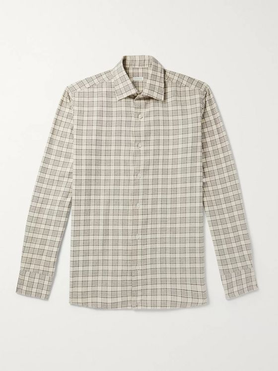 Caruso Slim-Fit Checked Cotton-Flannel Shirt