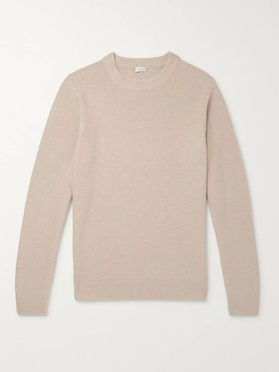 Caruso Mélange Wool and Cashmere-Blend Sweater