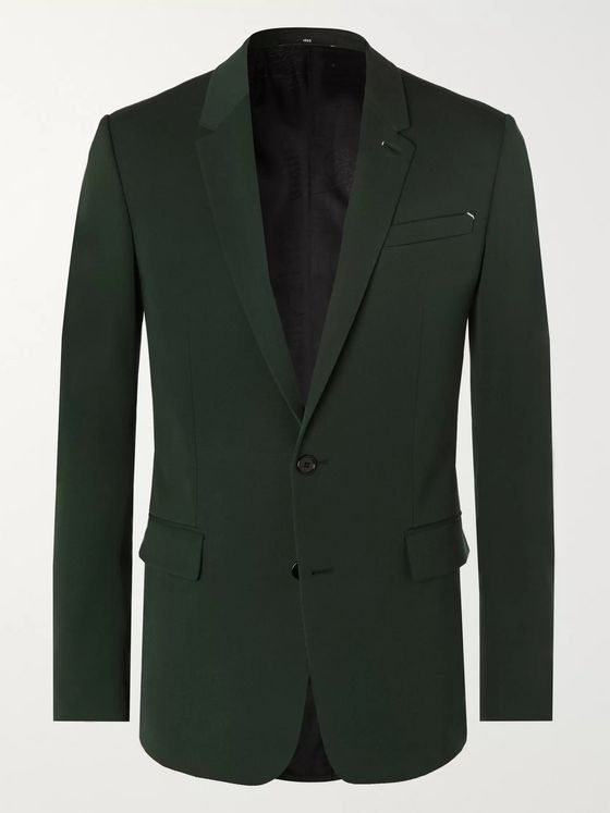 Berluti Forest-Green Slim-Fit Wool-Twill Suit Jacket