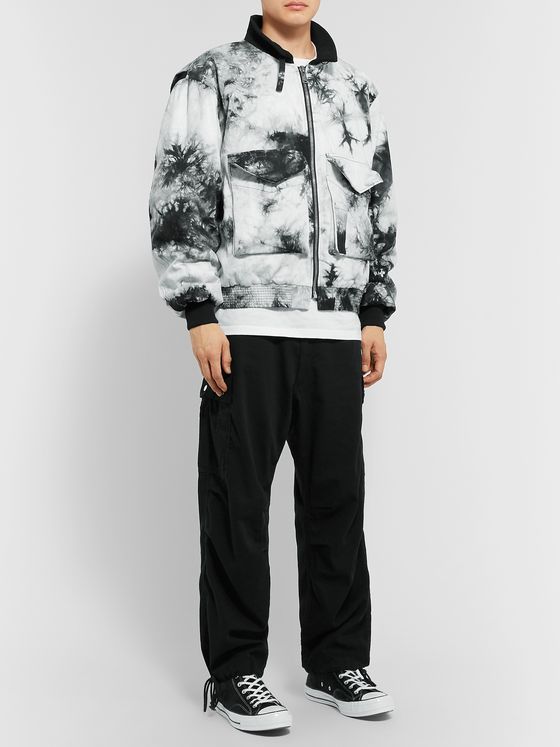 BILLY Tie-Dyed Cotton-Twill Bomber Jacket