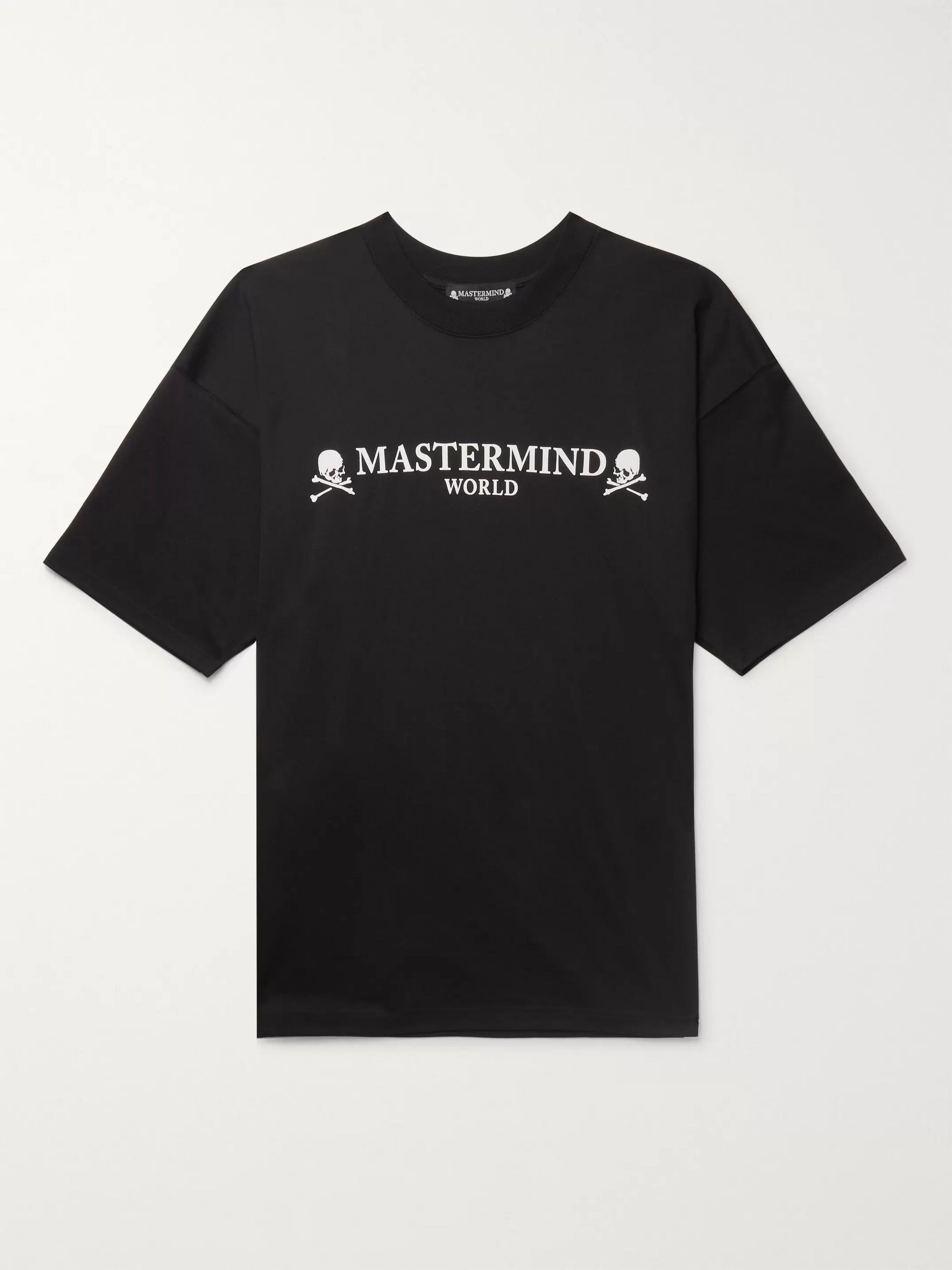 nice cheap best supplier size 40 Black Oversized Printed Cotton-Jersey T-Shirt | MASTERMIND WORLD ...