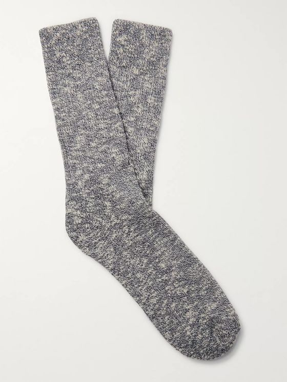 Norse Projects Ebbe Mélange Stretch Cotton-Blend Socks