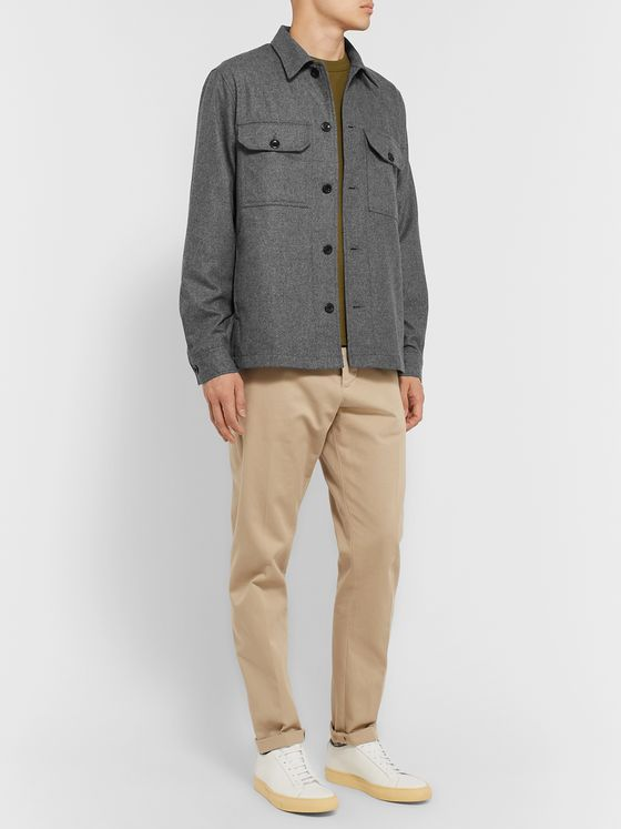 Norse Projects Kyle Checked Wool-Blend Overshirt