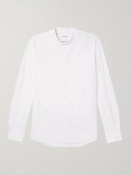 Norse Projects Hans Grandad-Collar Cotton-Poplin Shirt