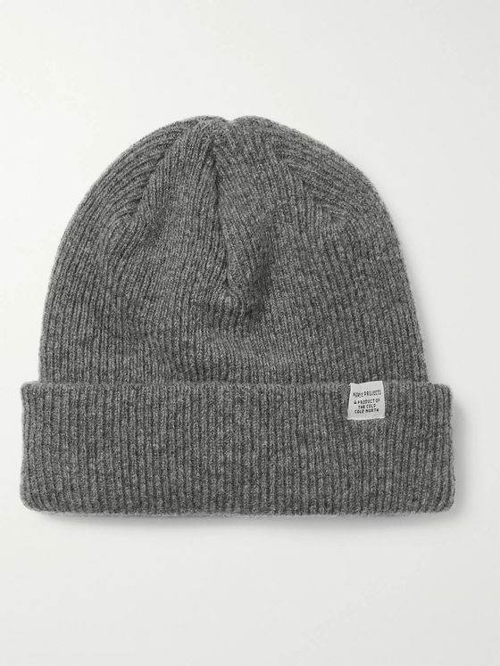 Norse Projects Ribbed Mélange Wool Beanie
