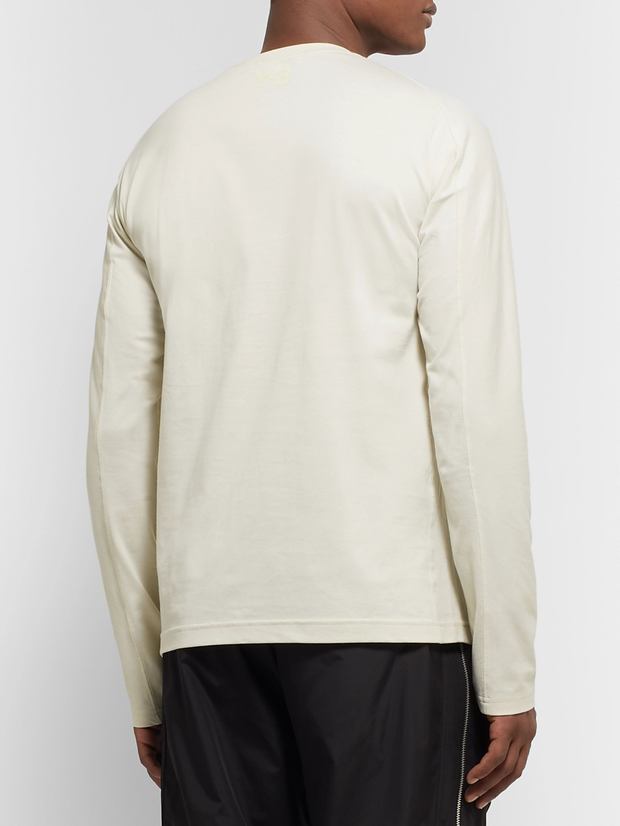 Y-3 Logo-Appliquéd Stretch Cotton-Jersey T-Shirt