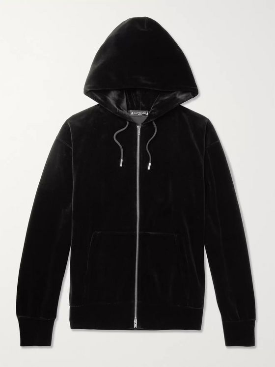 MASTERMIND WORLD Oversized Printed Cotton-Blend Velour Hoodie