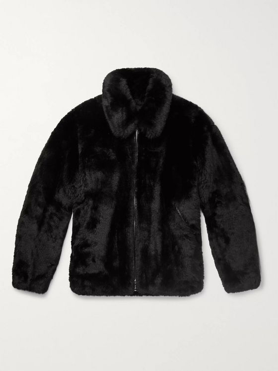 MASTERMIND WORLD Oversized Leather-Trimmed Faux Fur Coat