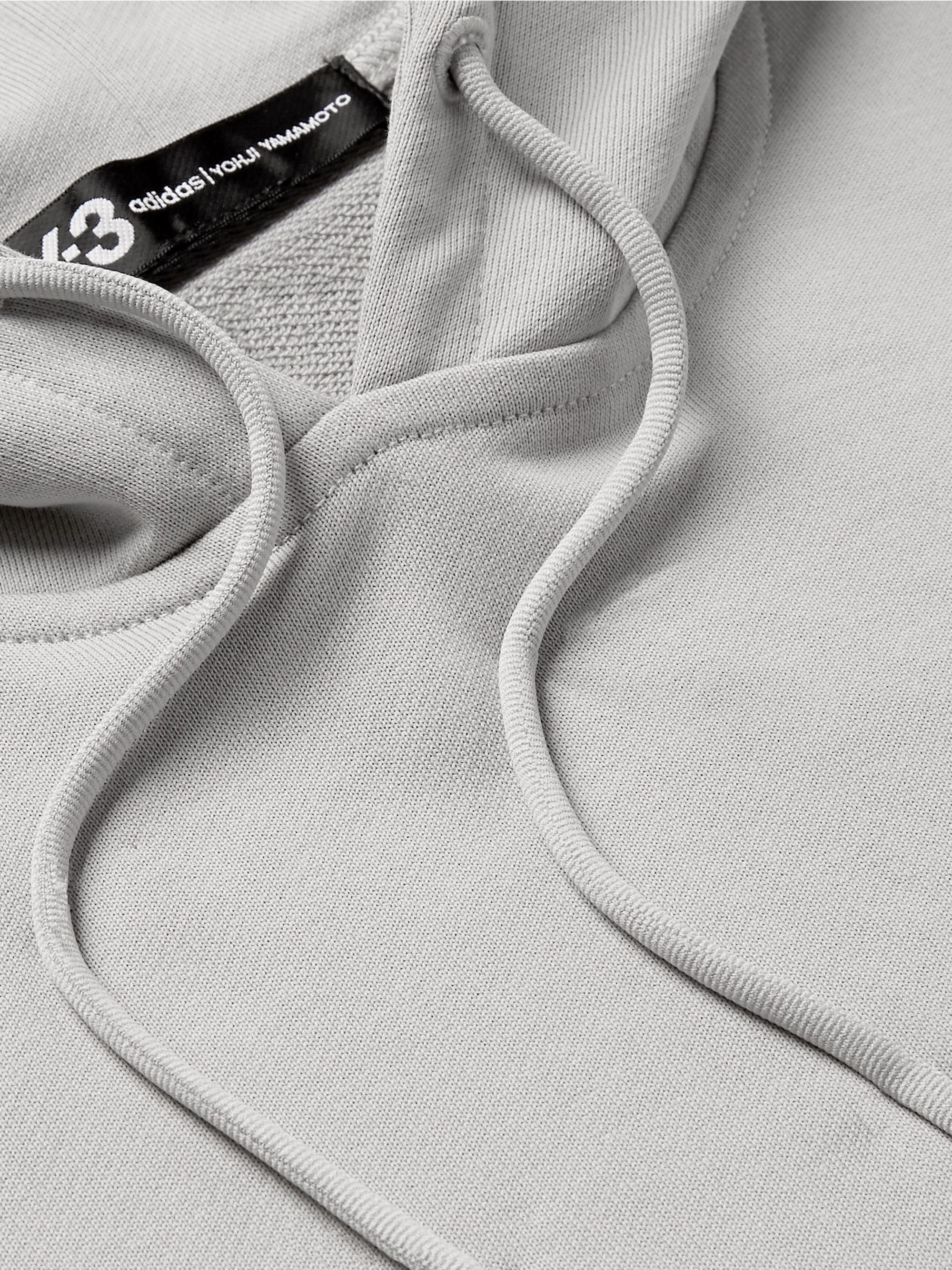 Logo Print Loopback Cotton Jersey Hoodie by Y 3