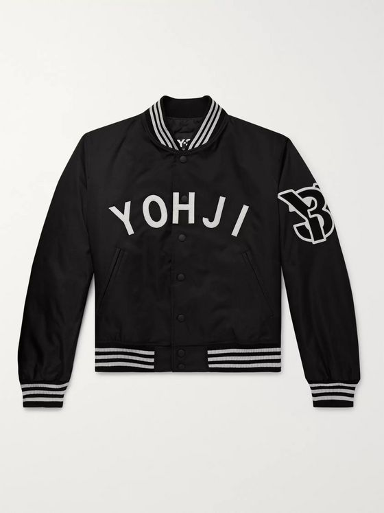 Y-3 Logo-Appliquéd Shell Bomber Jacket