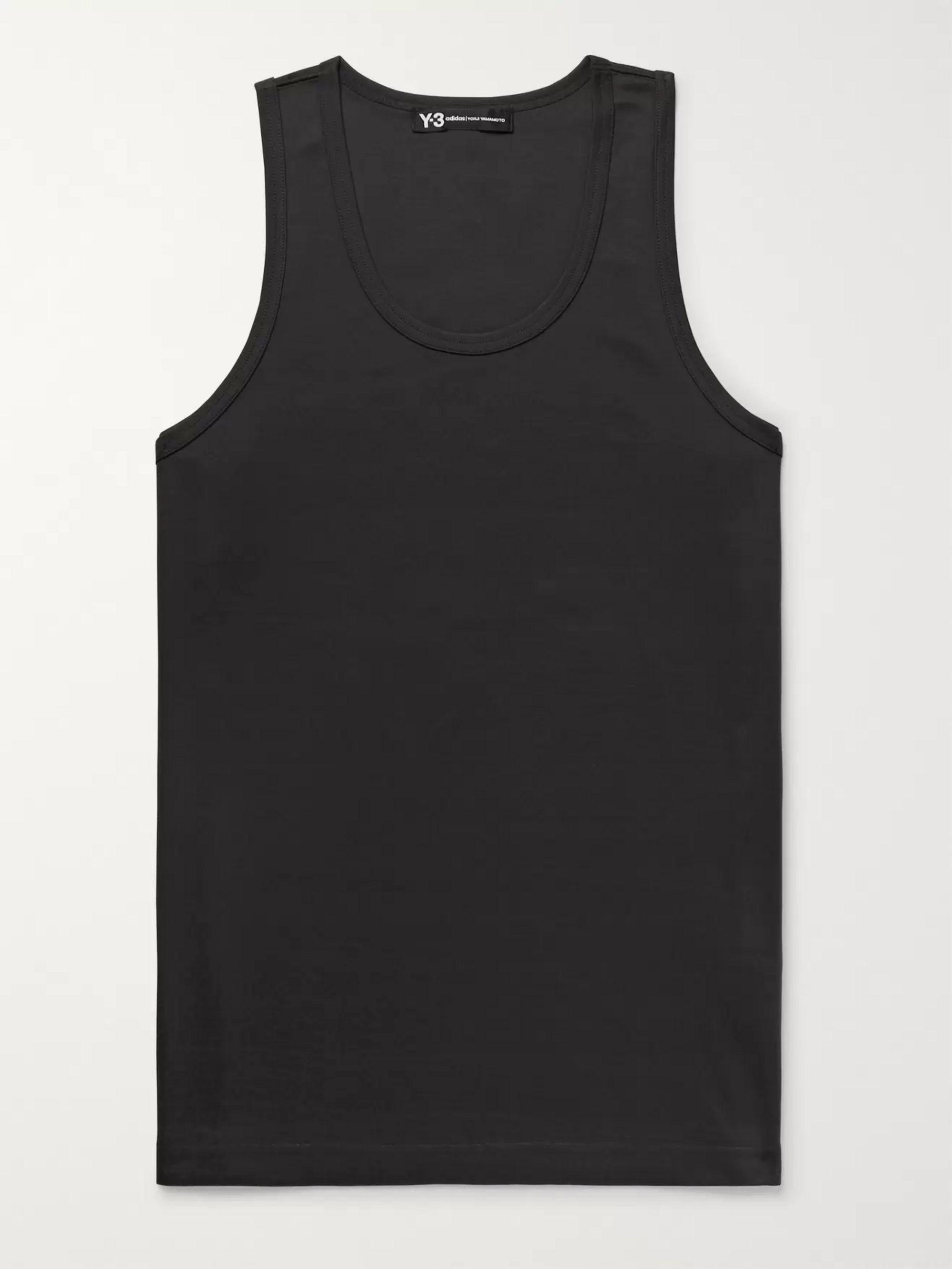 Slim Fit Logo Print Cotton Jersey Tank Top by Y 3