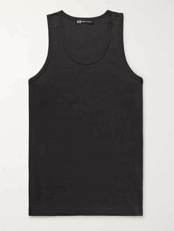 Y-3 Slim-Fit Logo-Print Cotton-Jersey Tank Top