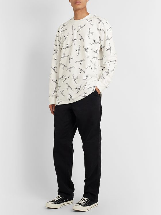 MASTERMIND WORLD Oversized Printed Loopback Cotton-Jersey T-Shirt