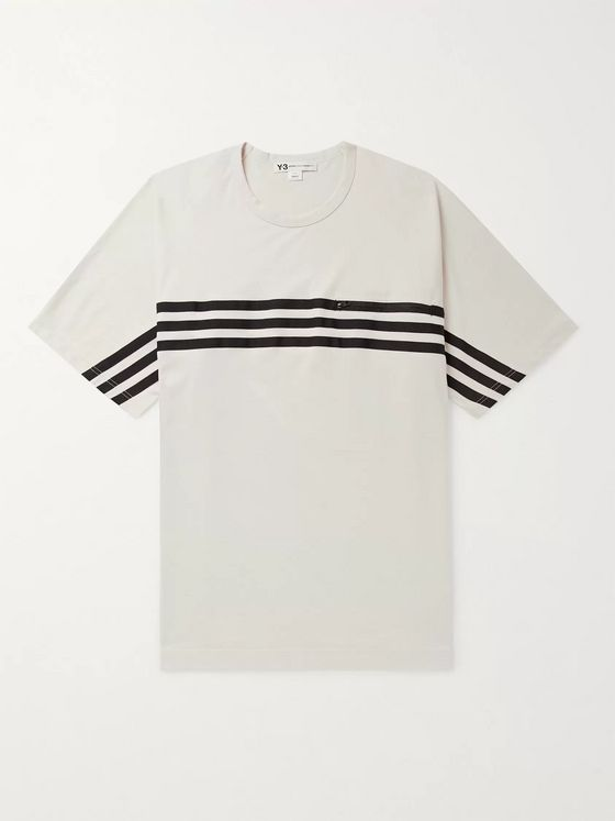 Y-3 Oversized Grosgrain-Trimmed Cotton-Jersey T-Shirt