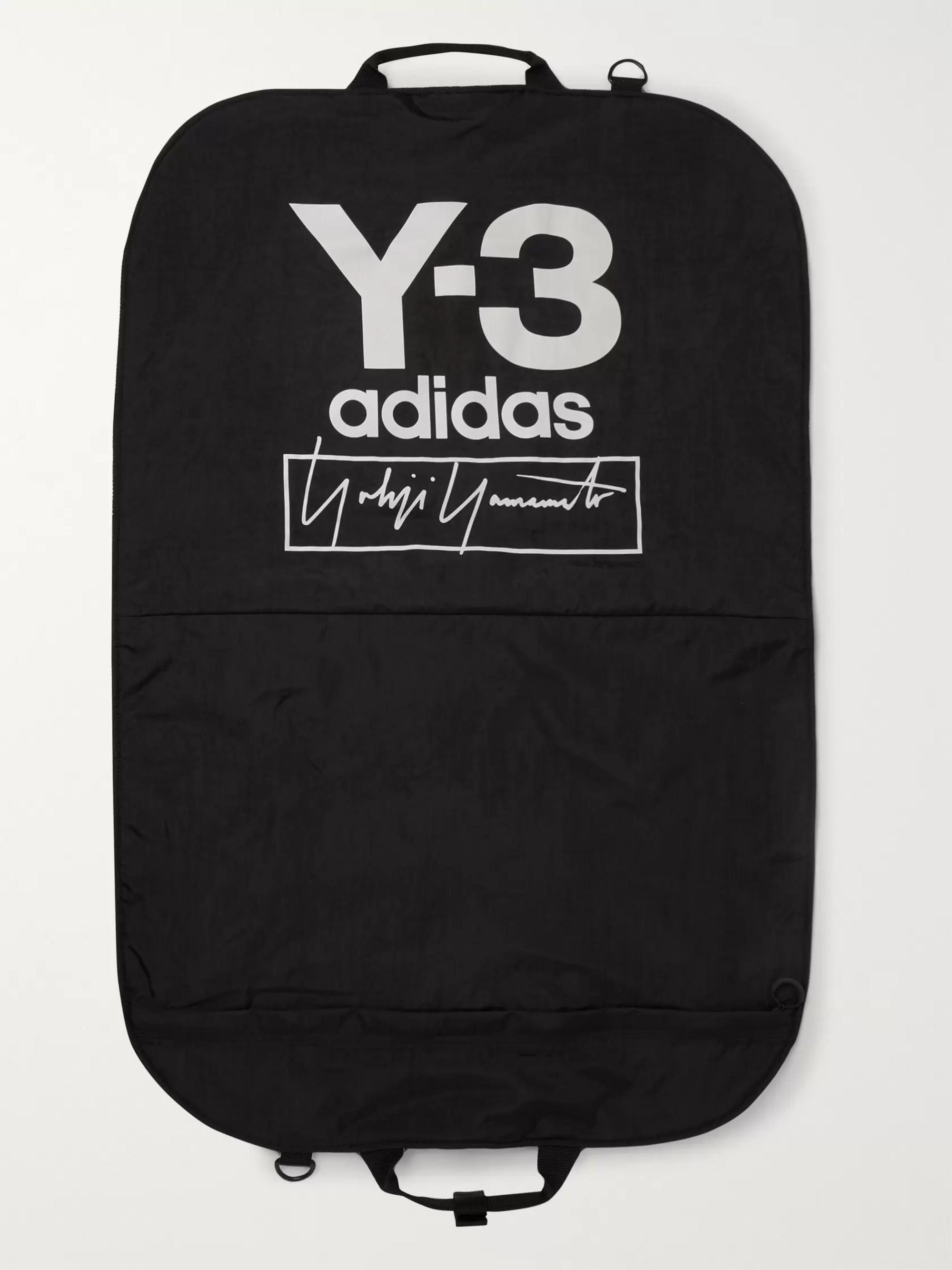 Y-3 Logo-Print Shell Garment Bag