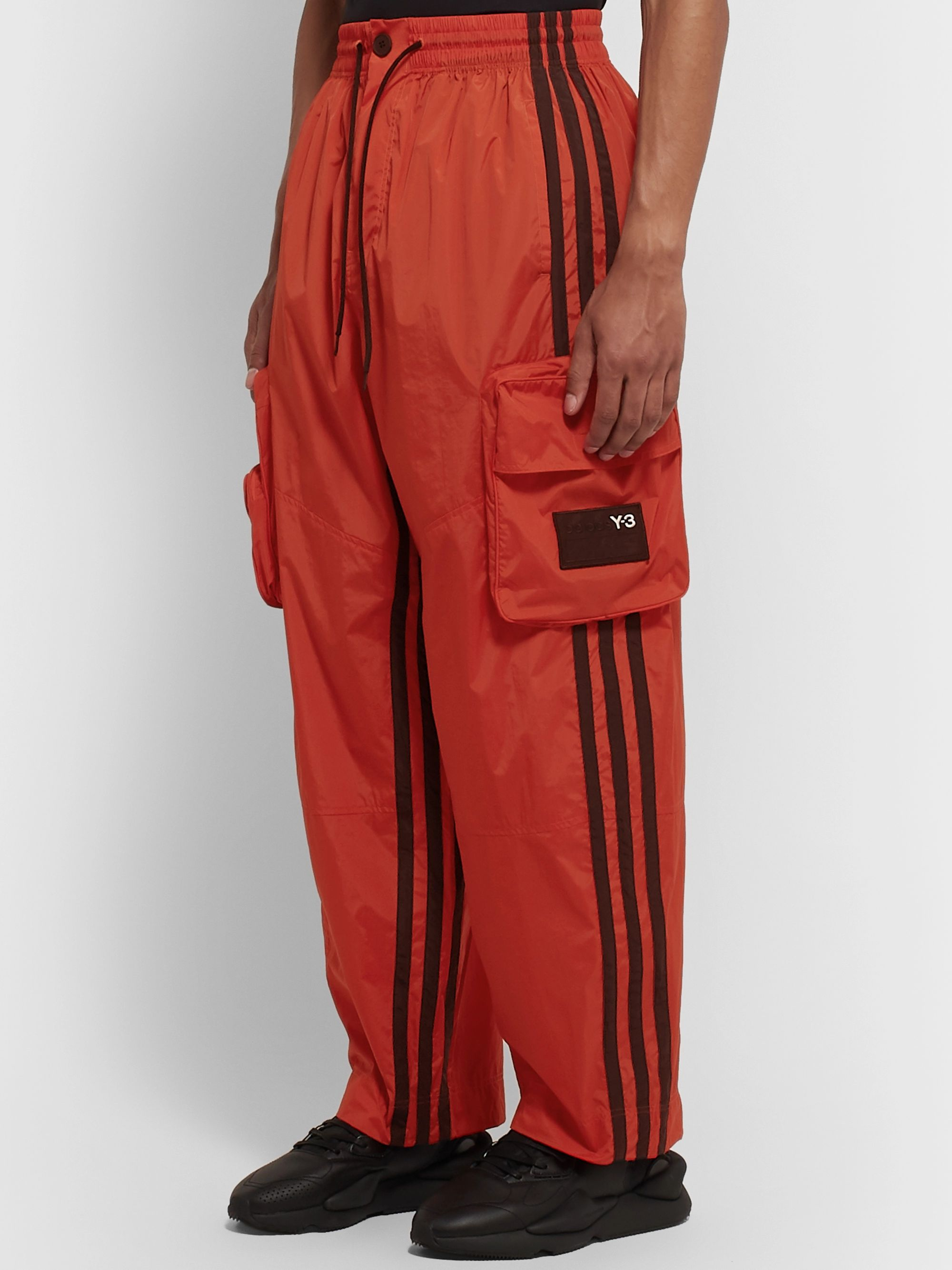 Y-3 Logo-Appliquéd Striped Shell Track Pants