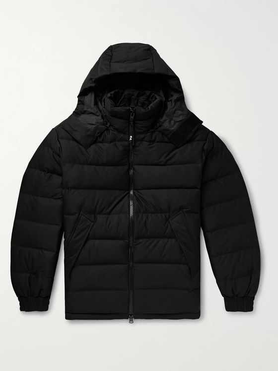 Y-3 Logo-Print Quilted Shell Hooded Down Jacket