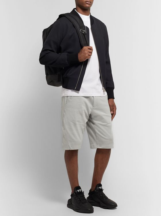Y-3 Loopback Cotton-Jersey Drawstring Shorts
