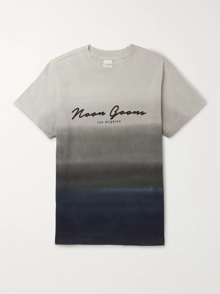Noon Goons Logo-Print Dégradé Cotton-Jersey T-Shirt