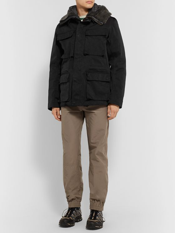 Ten C Shearling-Trimmed Quilted Shell Down Liner