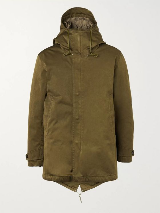 Ten C Quilted Microfiber Hooded Down Parka
