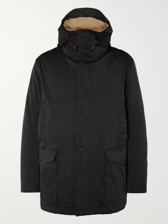 Ten C Canon Microfibre Hooded Down Jacket