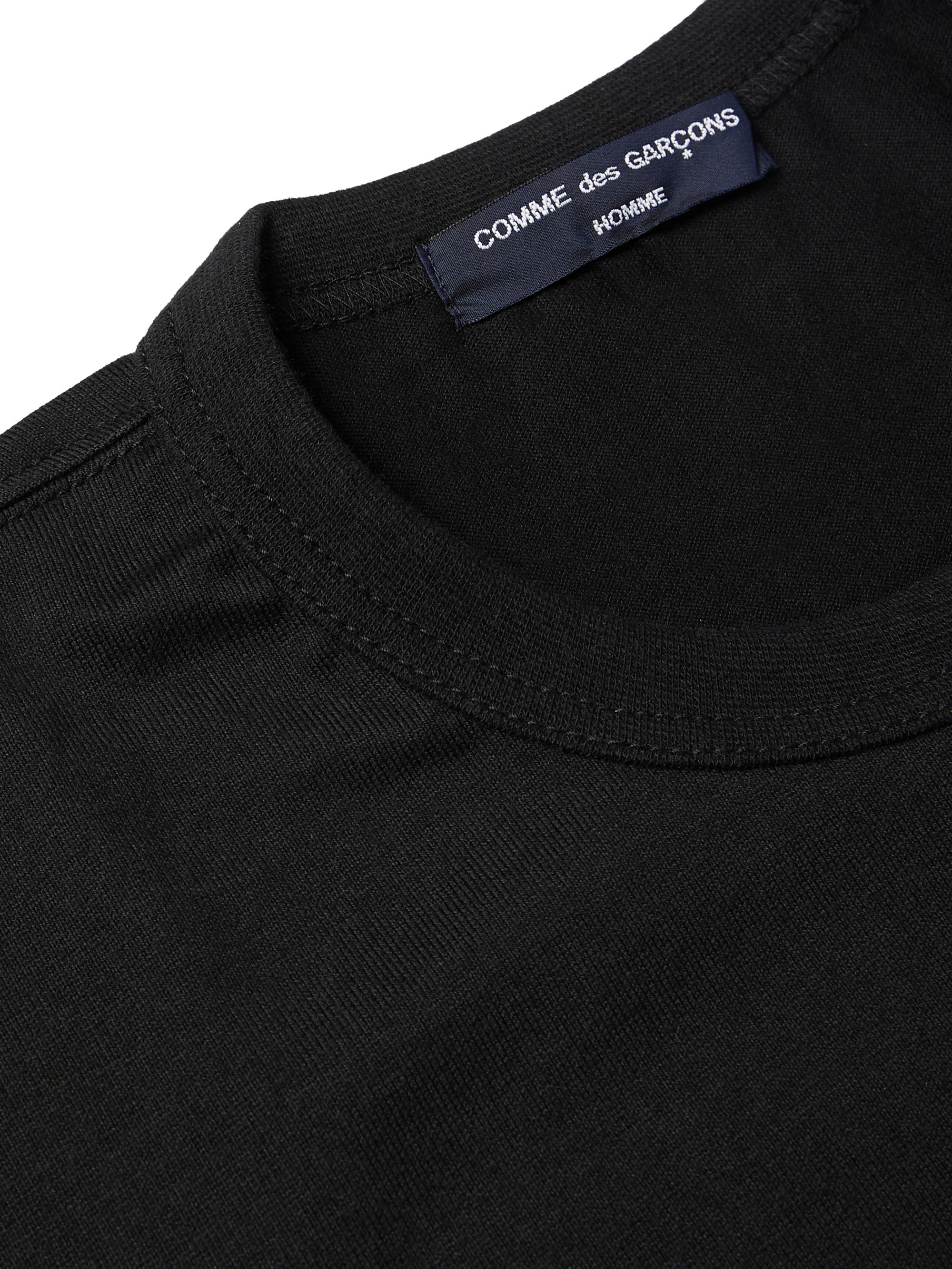 Comme des Garçons HOMME Printed Shell and Cotton-Jersey T-Shirt