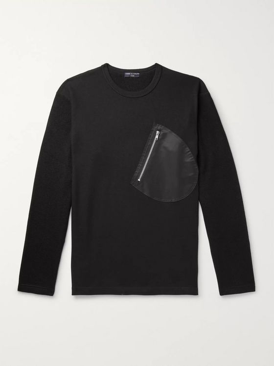 Comme des Garçons HOMME Panelled Wool and Cotton-Blend Sweater