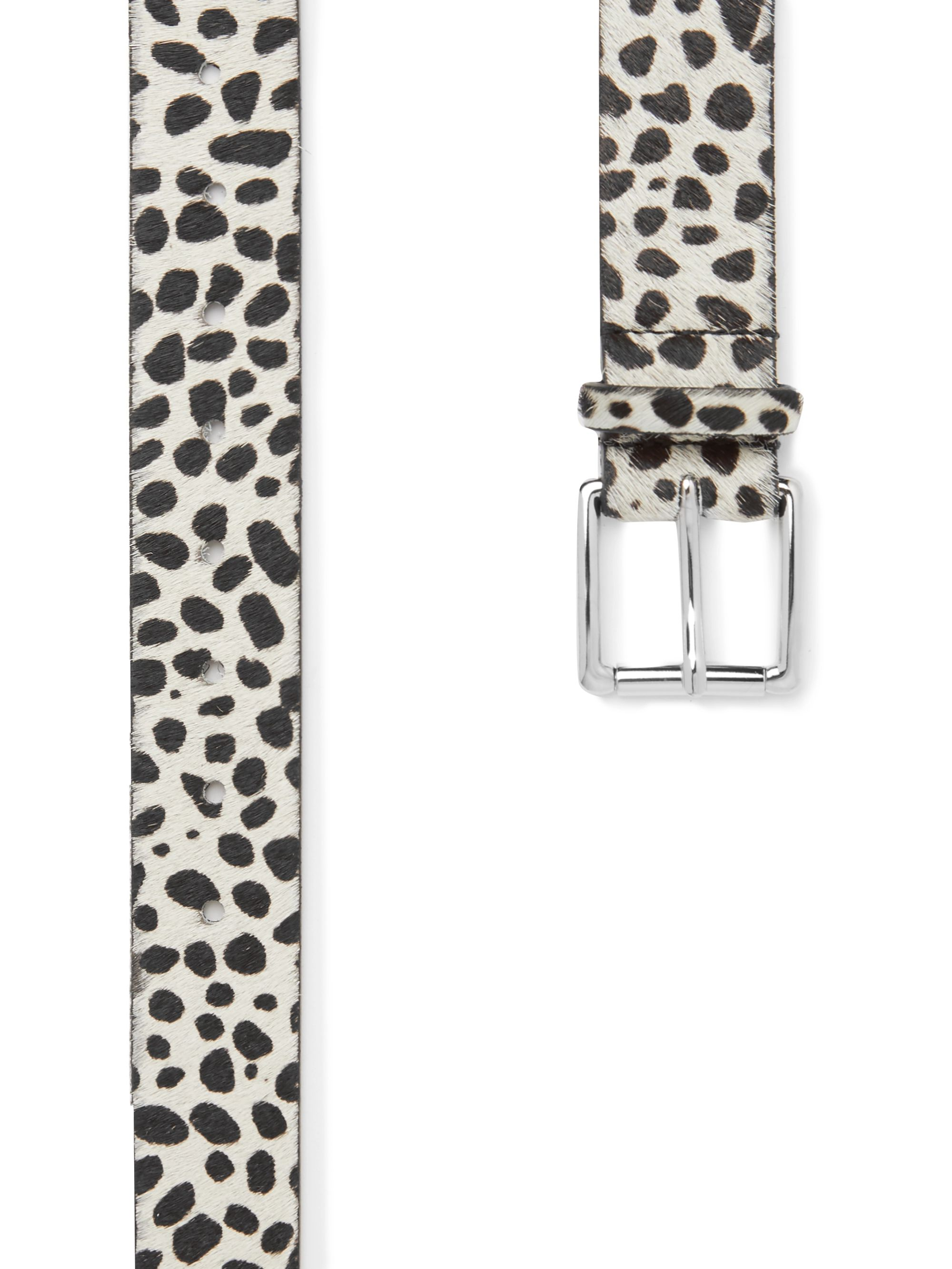 Très Bien 3cm Animal-Print Calf Hair Belt
