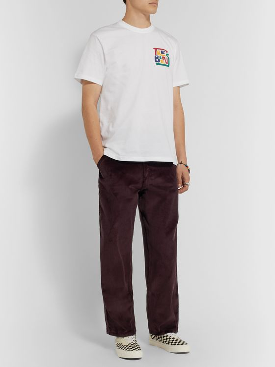 Très Bien Cropped Cotton-Corduroy Cargo Trousers