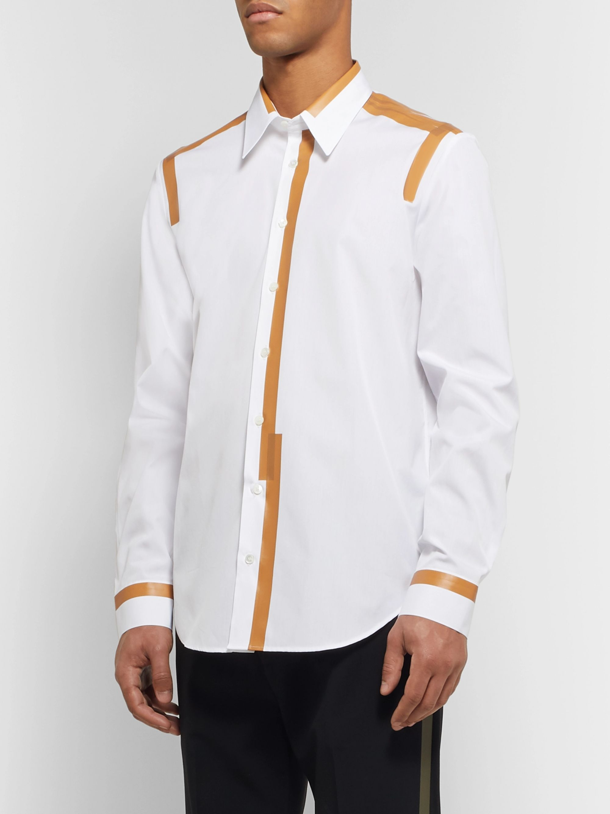 Helmut Lang Printed Cotton-Poplin Shirt
