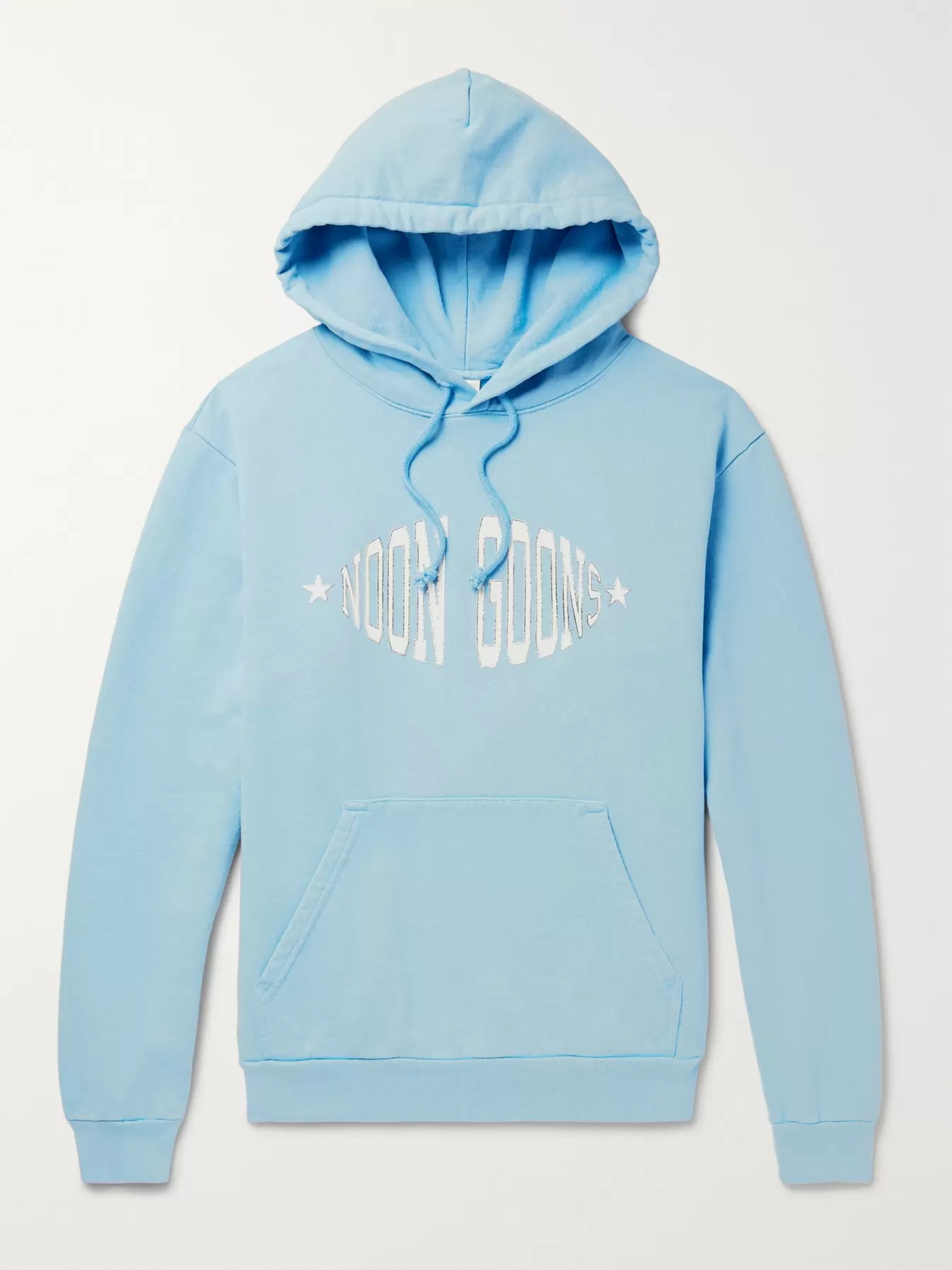 Noon Goons Logo-Print Garment-Dyed Loopback Cotton-Jersey Hoodie