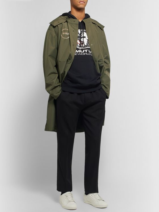 Helmut Lang Oversized Logo-Print Recycled Shell Hooded Parka