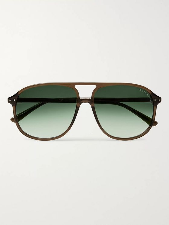 Bottega Veneta Aviator-Style Acetate Sunglasses