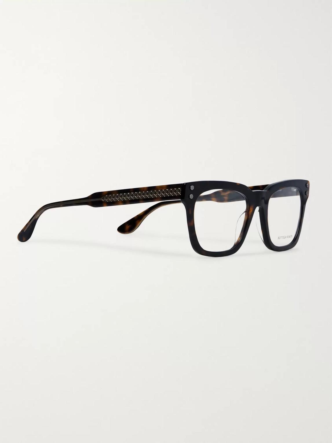 Bottega Veneta Opticals SQUARE-FRAME TORTOISESHELL ACETATE OPTICAL GLASSES