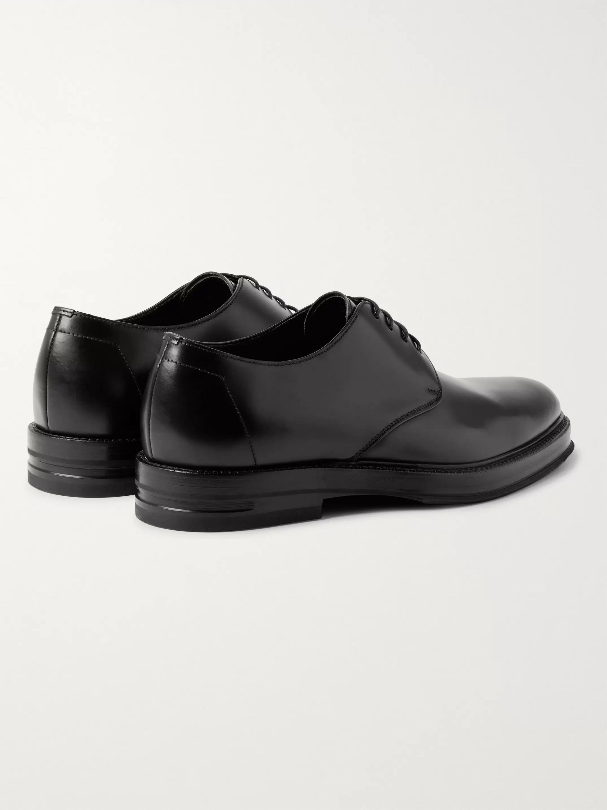 Dunhill Facet Polished-Leather Derby Shoes