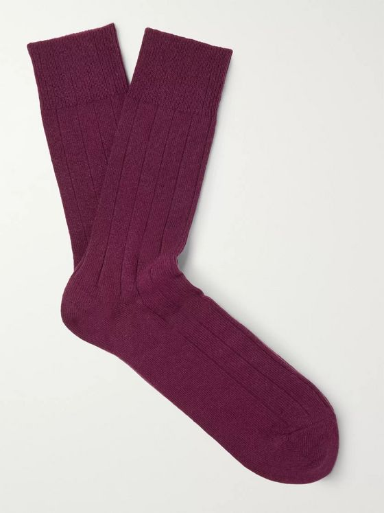 FALKE Lhasa Ribbed-Knit Socks