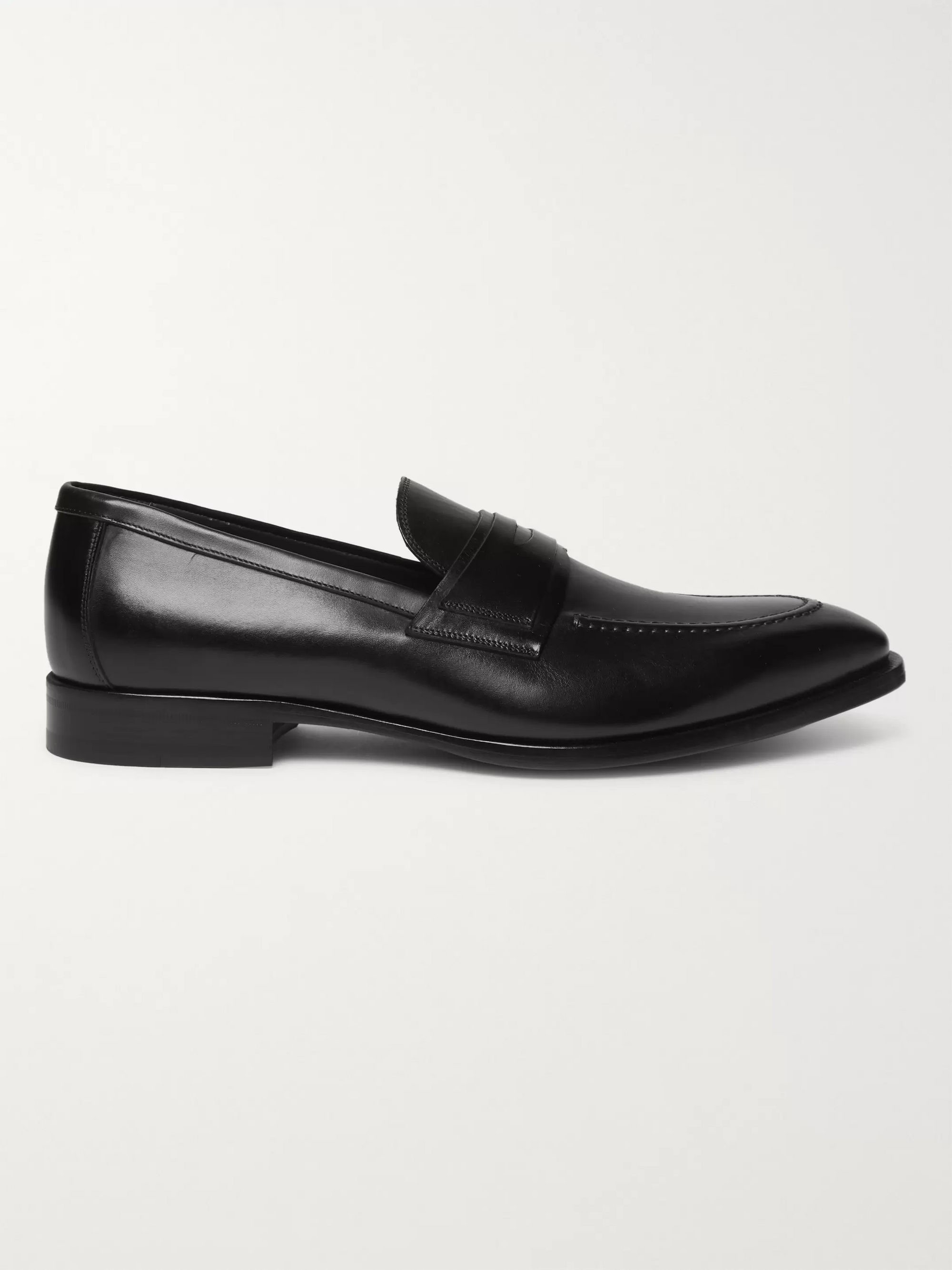 Dunhill Leather Penny Loafers