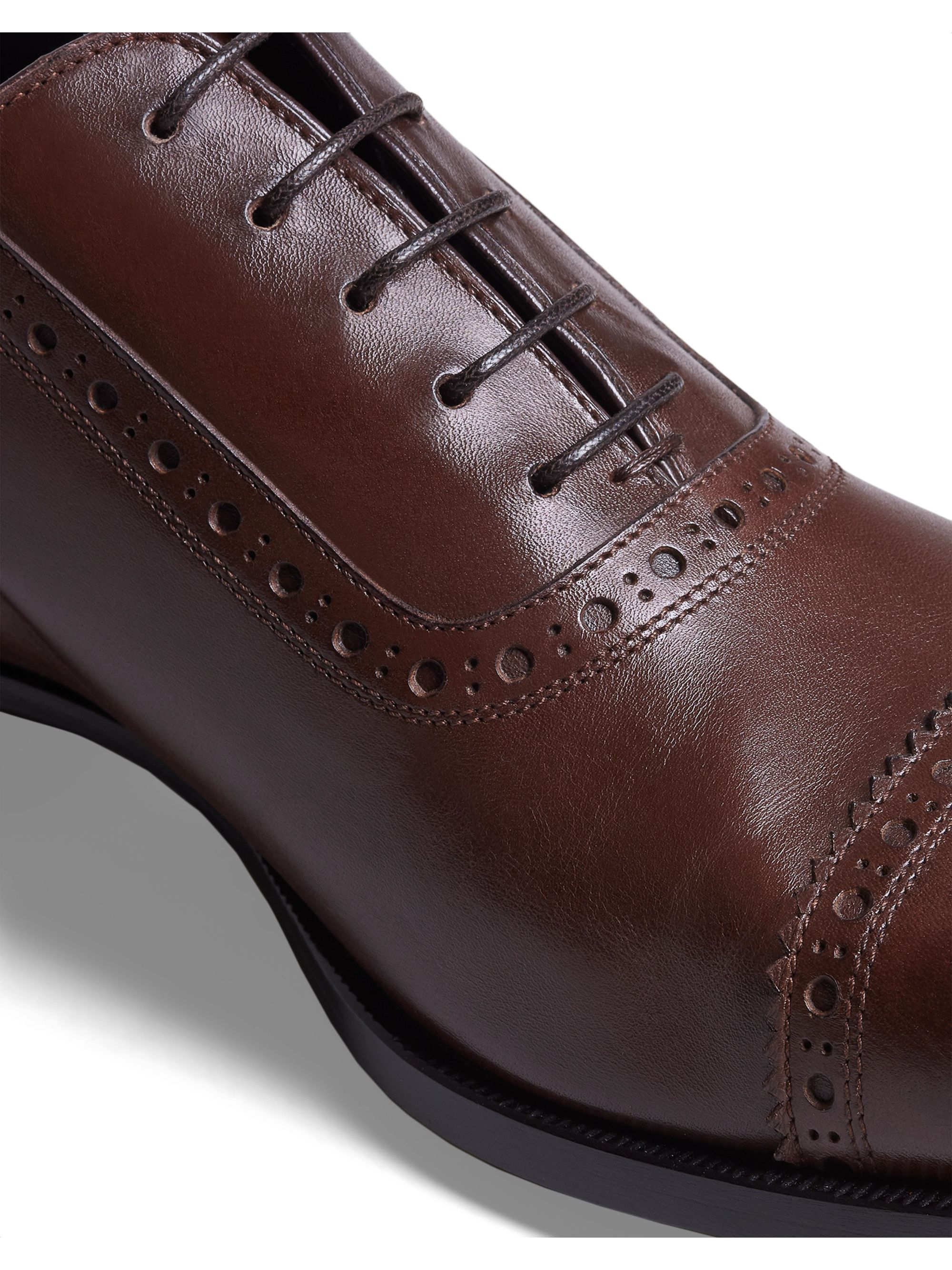 Dunhill Cap-Toe Leather Oxford Brogues