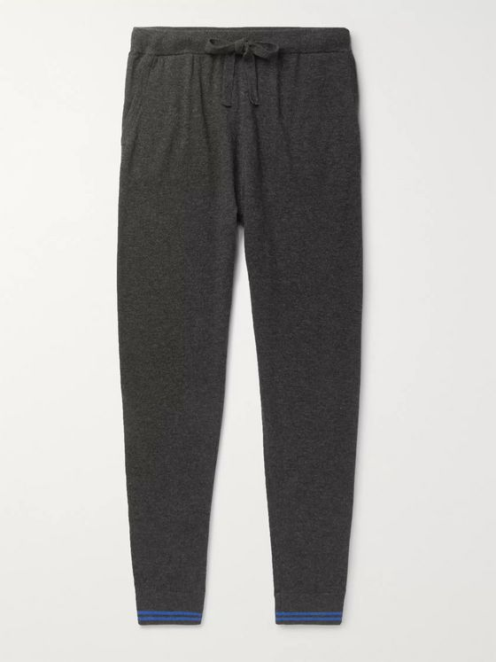 Schiesser Jonah Slim-Fit Tapered Wool and Cashmere-Blend Sweatpants