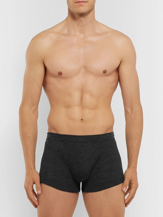 Secondskin Ribbed Wool Boxer Briefs