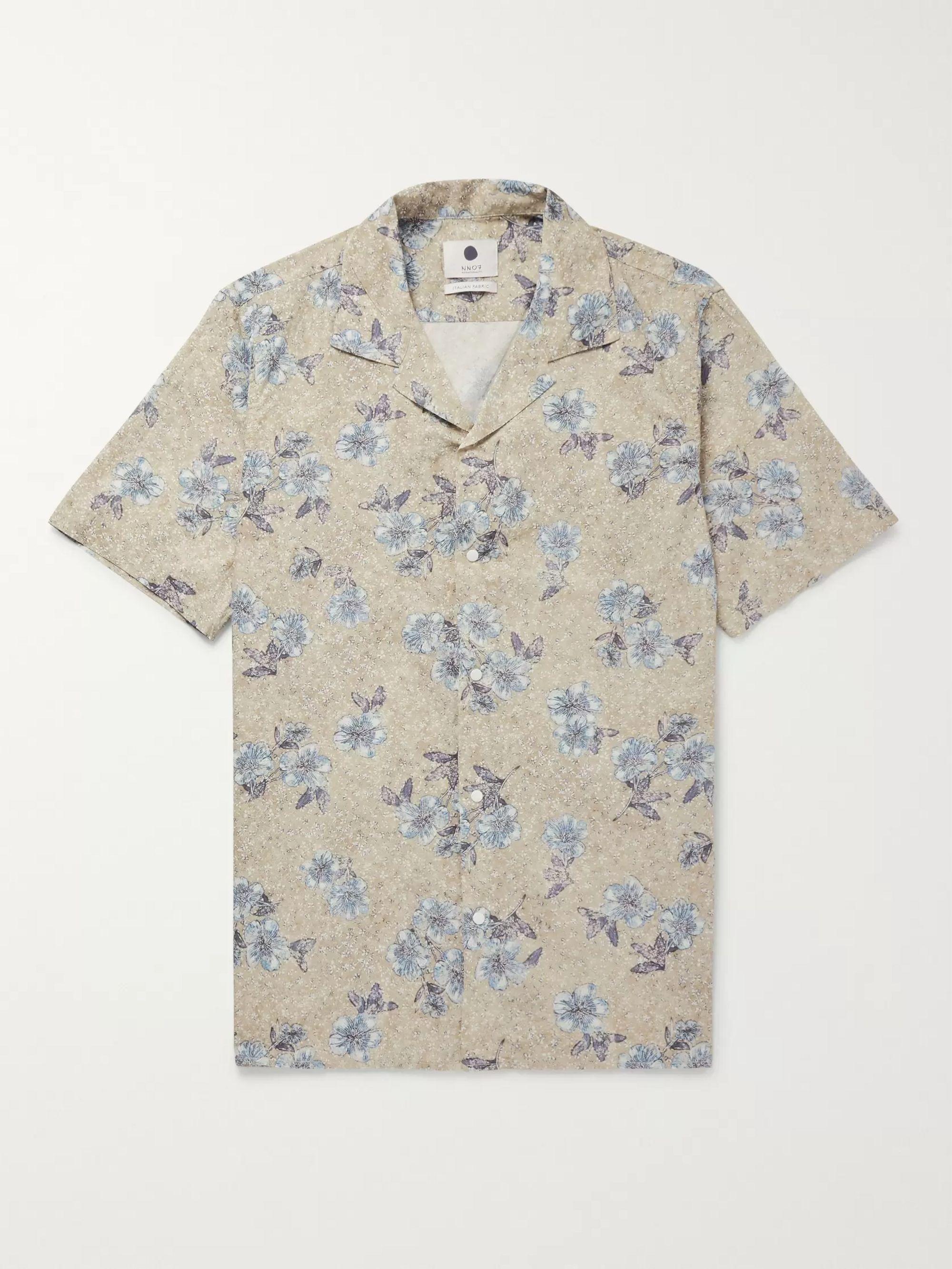 4f2efee387 Miyagi Camp-Collar Printed Cotton Shirt