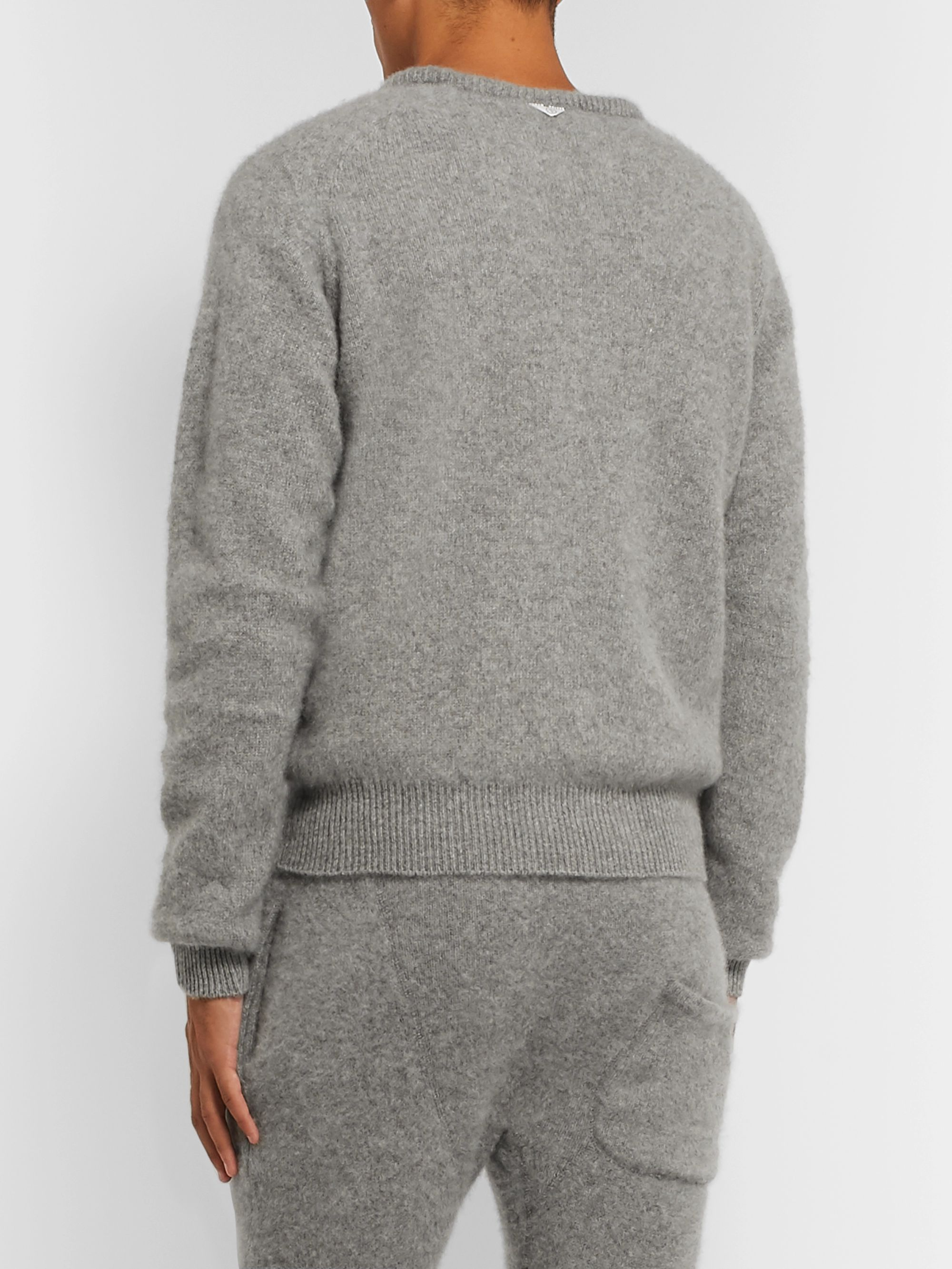 Secondskin Brushed-Cashmere Sweatshirt