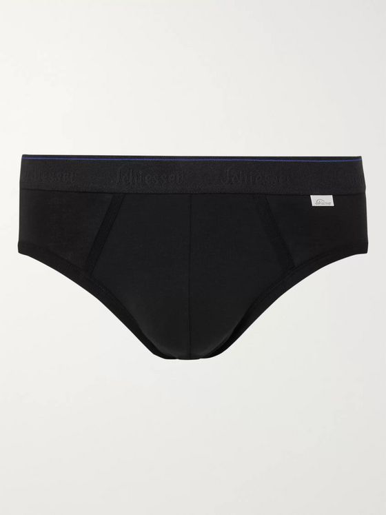 Schiesser Lorenz Stretch Cotton and Modal-Blend Briefs