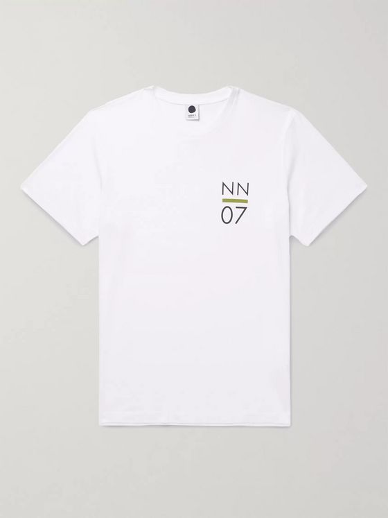 NN07 Mauro Logo-Print Cotton and Lenzing Modal-Blend T-Shirt