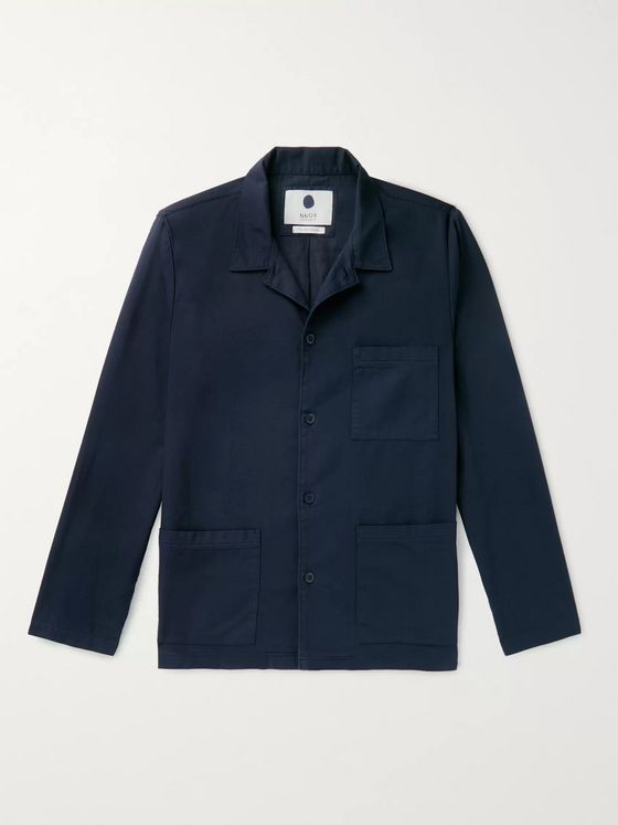 NN07 Ezra Cotton-Blend Overshirt